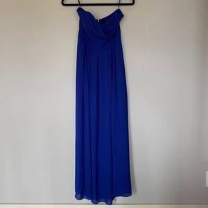 NWT TFNC London Elida Maxi Royal Blue Dress